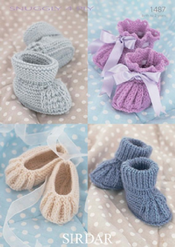 Sirdar  Baby Bootees and Shoes 1487- 4 ply